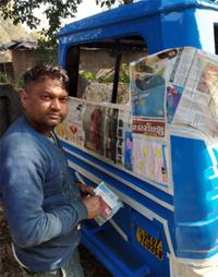 Painter in Haridwar Road, Rishikesh, Dehradun, Uttarakhand, India